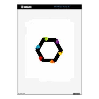 Elemento hexagonal del diseño calcomanía para iPad 2
