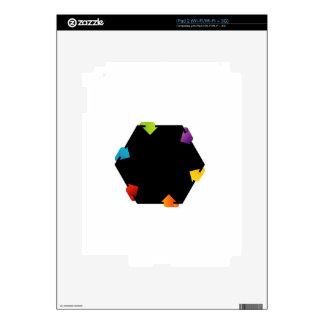 Elemento hexagonal del diseño calcomanías para el iPad 2