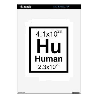 Elemento humano skin para el iPad 2