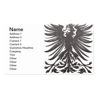 Elemento imperial del diseño del águila tarjetas de visita
