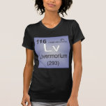 Elemento individual de Livermorium - tabla periódi Camisetas