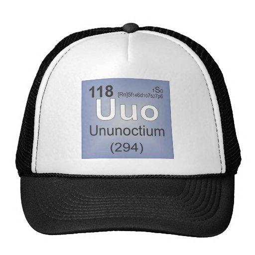 Elemento individual de Ununoctium - tabla periódic Gorras