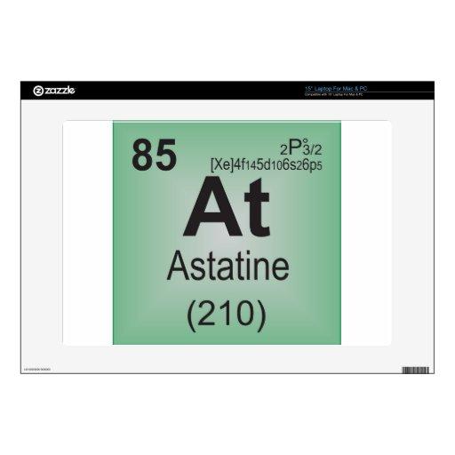 Elemento individual del astatino de la tabla perió 38,1cm portátil calcomanías