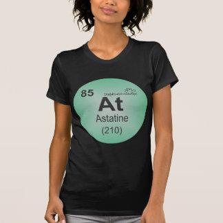 Elemento individual del astatino de la tabla perió camisetas