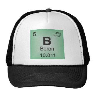 Elemento individual del boro de la tabla periódica gorros