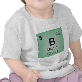 Elemento individual del boro de la tabla periódica camiseta