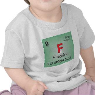Elemento individual del flúor de la tabla periódic camiseta