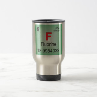 Elemento individual del flúor de la tabla taza térmica