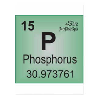 Elemento individual del fósforo - tabla periódica postal