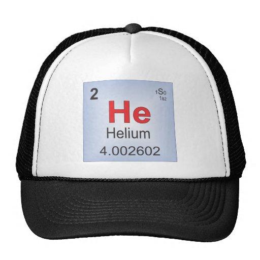 Elemento individual del helio de la tabla gorras de camionero