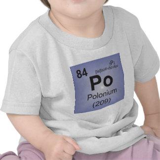 Elemento individual del polonio de la tabla camiseta