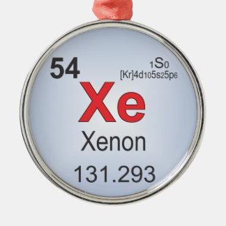 Elemento individual del xenón de la tabla adorno navideño redondo de metal