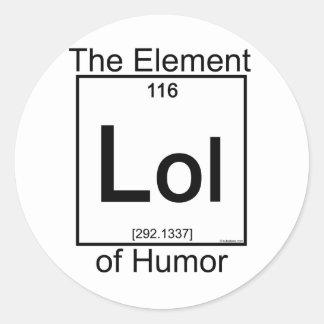 Elemento LOL Pegatina Redonda