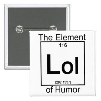 Elemento LOL Pin Cuadrado