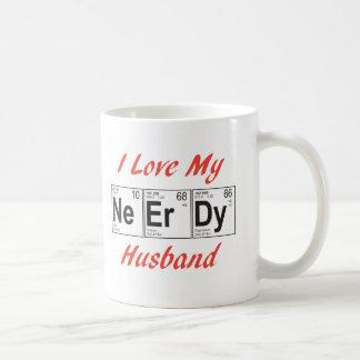 elemento-marido del empollón taza