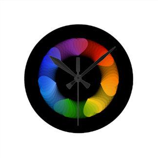 Elemento o bandera del diseño del corazón reloj redondo mediano