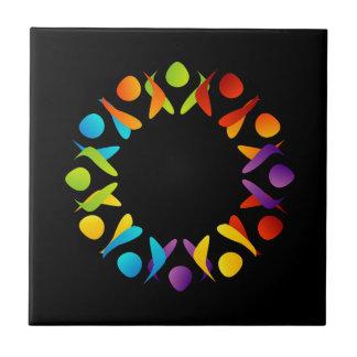 Elemento o bandera del diseño del fractal azulejo cuadrado pequeño