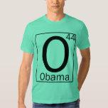 Elemento periódico 44: O para la camiseta de Obama Remeras