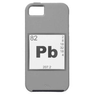 Elemento plomo lead iPhone 5 cárcasas