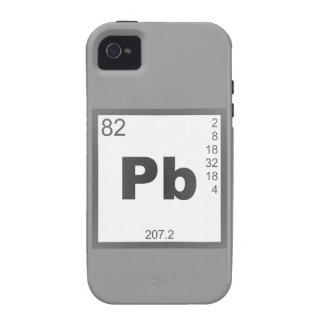 Elemento plomo lead Case-Mate iPhone 4 fundas