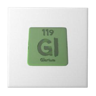 Elemento químico 119 de Glorium Gloria Azulejos Cerámicos