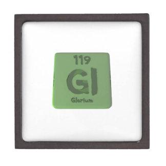 Elemento químico 119 de Glorium Gloria Caja De Recuerdo De Calidad