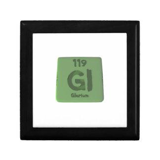 Elemento químico 119 de Glorium Gloria Caja De Regalo