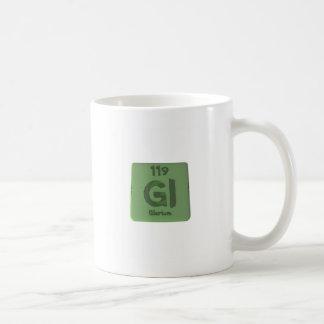 Elemento químico 119 de Glorium Gloria Tazas