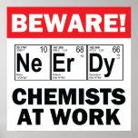 elemento-químico del empollón en la muestra del tr poster