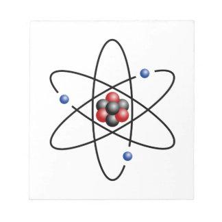 Elemento químico número atómico 3 del átomo del li bloc de notas