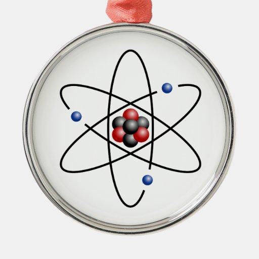 Elemento químico número atómico 3 del átomo del li adorno para reyes