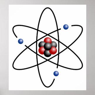 Elemento químico número atómico 3 del átomo del li impresiones