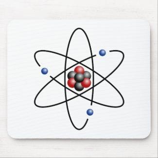 Alfombrilla de ratón del átomo de litio