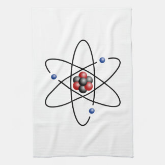 Elemento químico número atómico 3 del átomo del li toallas