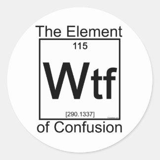 Elemento WTF Pegatina Redonda