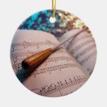 Elementos 3 del conductor de orquesta adorno redondo de cerámica