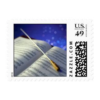 Elementos 4 del conductor de orquesta sellos postales