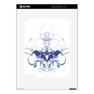 Elementos abstractos de la flor iPad 2 skins