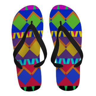 Elementos abstractos tribales aztecas coloridos