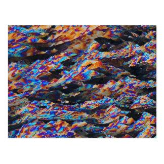 Elementos/aluminio debajo del microscopio tarjetas postales