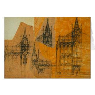 Elementos arquitectónicos: Iglesia gótica Tarjeta Pequeña