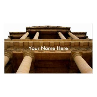 Elementos arquitectónicos tarjetas de visita