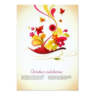 """elementos artísticos en colores del otoño invitación 5"""" x 7"""""""