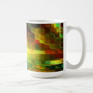Elementos de una taza del mosaico del extracto del