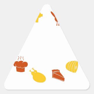Elementos del diseño del icono de la acción de pegatina triangular
