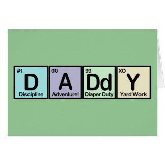 Elementos del papá felicitación