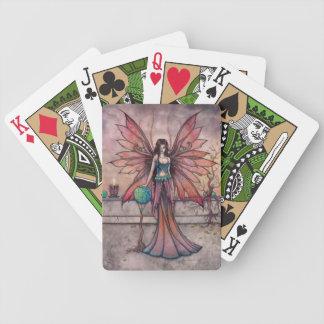 Elementos en arte de hadas de la fantasía de la baraja cartas de poker