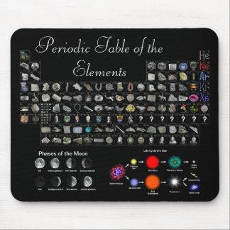 Elementos, luna, y estrellas en sus yemas del dedo tapetes de ratones