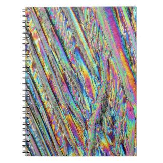Elementos/magnesio debajo del microscopio spiral notebooks