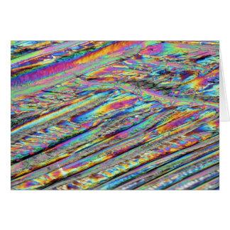 Elementos/magnesio debajo del microscopio tarjeta de felicitación